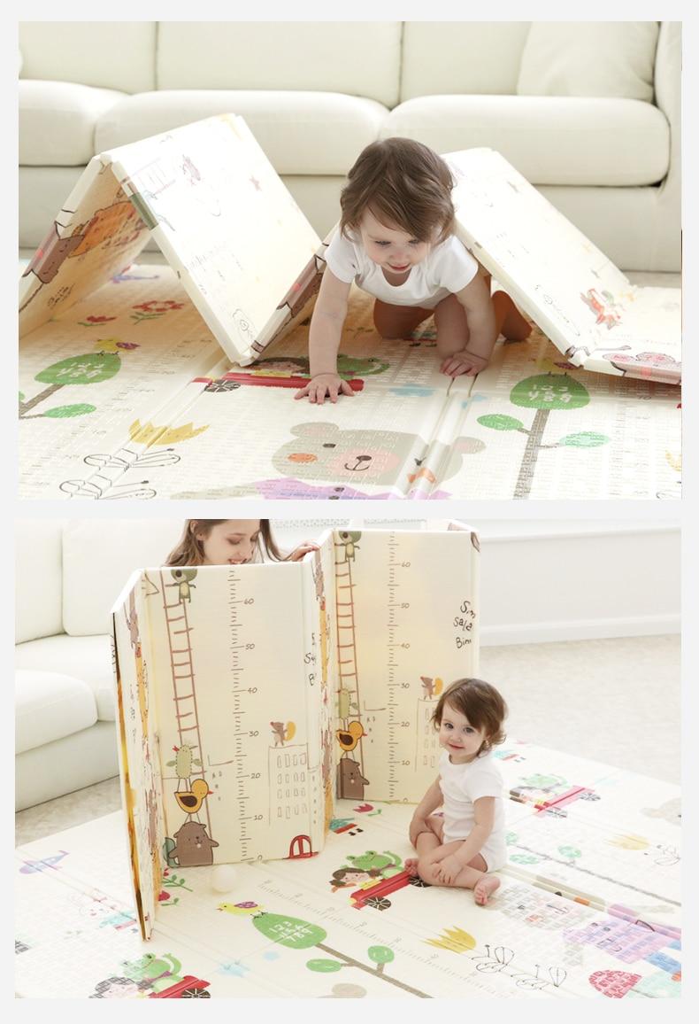 Bébé ramper tapis épaississement bébé pliable salon maison XPE tapis enfant escalade tapis couture