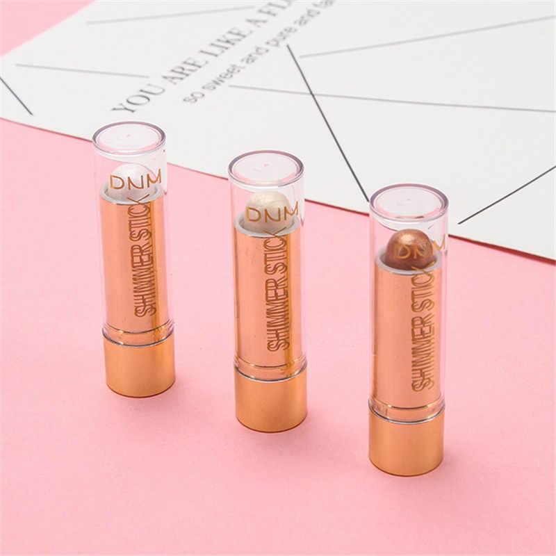 DNM 3D resalte embellecedor contorno corrector resaltador lápiz iluminador piel lápiz labial rotativo tubo Maquillaje facial cepillo cosmético
