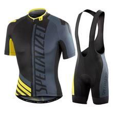 Especializada ciclismo conjunto de camisas manga curta camisa respirável almofada gel bib suspensórios shorts mountain ciclismo roupas