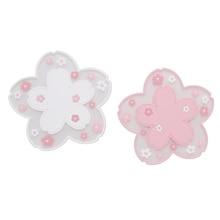 2Pcs Japan Style Cherry Blossom Heat Insulation Table Mat Family Office Anti-skid Tea Cup Milk Mug Coffee Cup Coaster