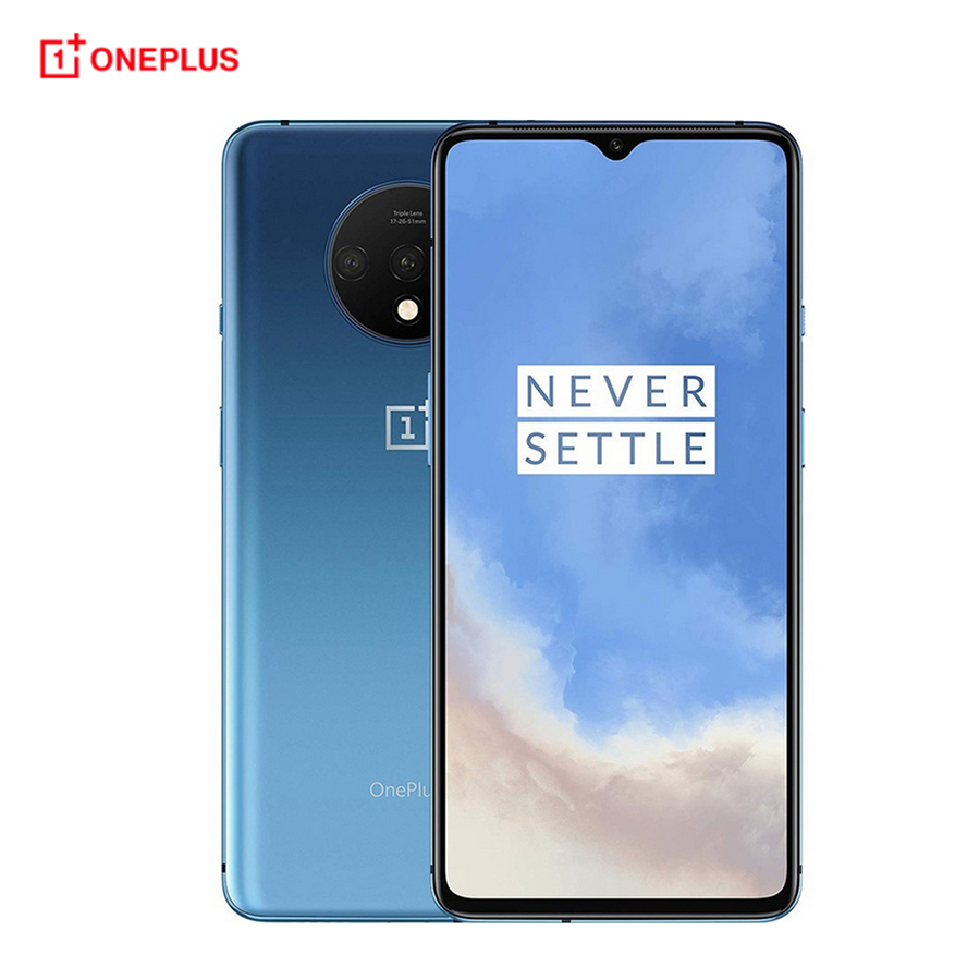 Global firmware Oneplus 7T 8GB 256GB / 128GB Mobile Phone Snapdragon 855+ 6.55 20:9 Triple Camera NFC 4G Android 10 Smartphone image