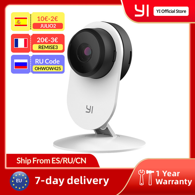 YI Home Camera 3 1080P HD AI Based Smart Home Camera Security Wireless IP Cam Night Vision Office EU Version Android YI Cloud 1