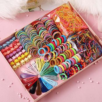 Girls Cute Elastic Hair Bands Hairpins Flower Claws Clip Rubber Band Ponytail Holder Kids Fashion Accessorie