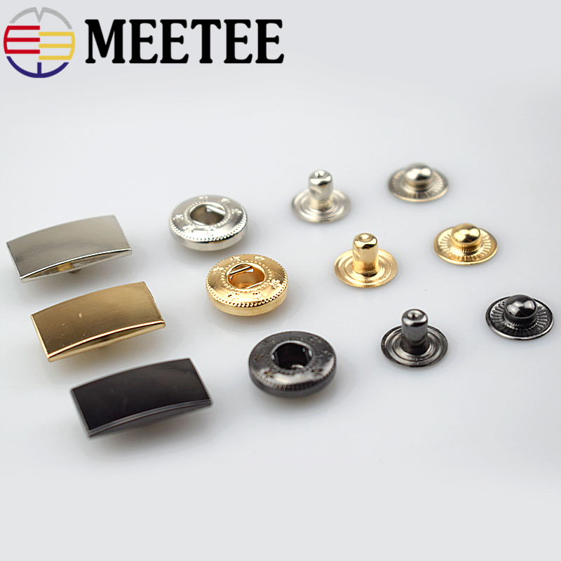 20/50pcs 20x11mm Metal Press Studs Snap Fastener Buttons for DIY Sewing Garment Coat Down Jacket LeatherCraft Accessories D1-2