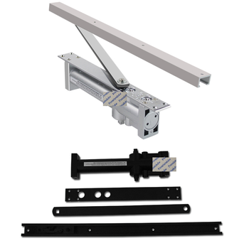 40-80KG Hydraulic Top Mounted Mortised Invisible Concealed Door Closer 2 Stage Speed Silver Matte Black Commerical