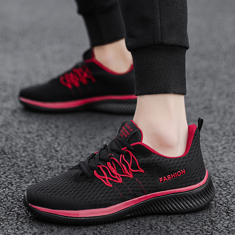 New Style Spring And Autumn Mesh Breathable Casual Shoes Air Cushion Damping Running Shoes Fashion Travel Large Size 45 Shoe