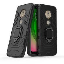 Armor Shock Proof Case For Moto G7 Play EU Version 3D Shield PC+Silicone Phone Case Cover For Motorola G7 Play EU Version Case