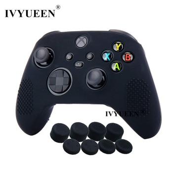 IVYUEEN-Funda de Gel de silicona antideslizante para mando de XBox Series X S, con empuñaduras de mando, tapas de Thumb Stick analógico