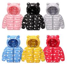 Kids Coat Snowsuit Clothing Outwear Baby-Girl Boys Winter Cartoon Hooded with Wind-Proof