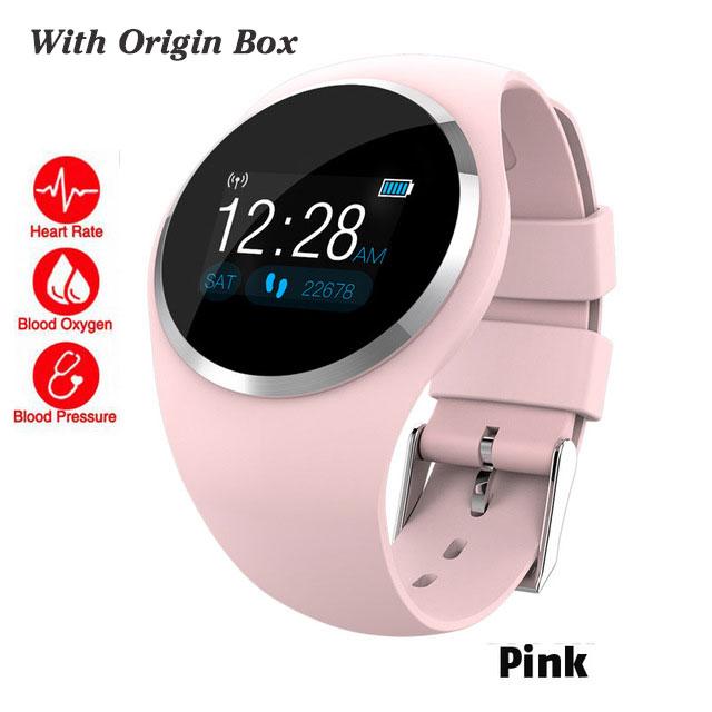 Bluetooth леди Смарт часы модные женские монитор сердечного ритма фитнес-трекер Smartwatch Приложение Поддержка для Android IOS pk Q8 Q9 - Цвет: pink