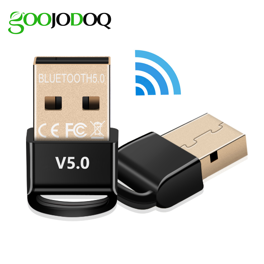 GOOJODOQ USB Bluetooth 5.0 Dongle Receiver Transmitter Mini Adapter Wireless Bluetooth Music Audio For PC Speaker Computer