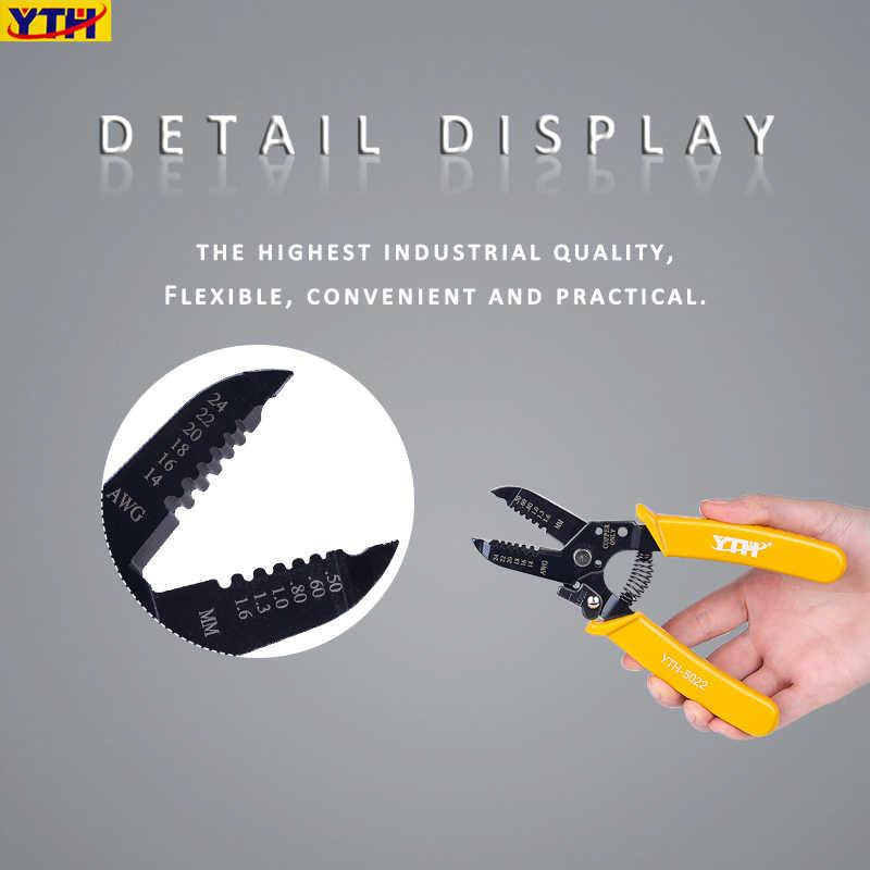7 인치 다기능 와이어 스트리퍼 휴대용 와이어 스트립 펜치 압착 전기 절단 펜치 0.25mm-2.6mm 옵션
