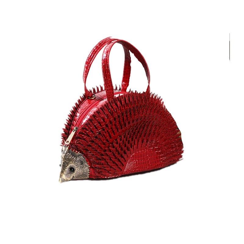 2019 nouvelle personnalité conception simulation hérisson style sac créatif mignon diagonale nouveauté marque Messenger gothique fait à la main sac - 2