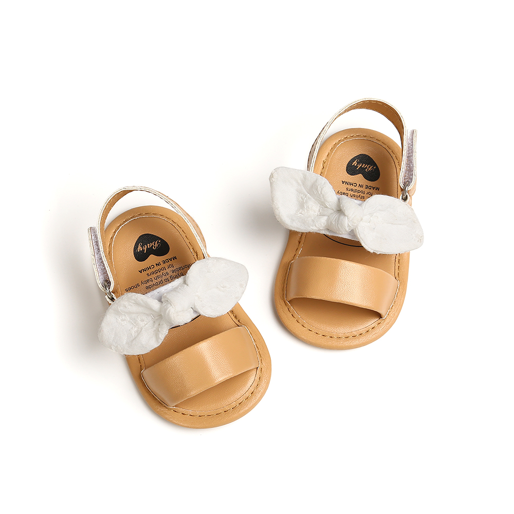 2020 Summer New Baby Girls Sandals Soft Sole Infant Toddler Girls First Walkers Newborn Baby Crib Shoes Girls Flats