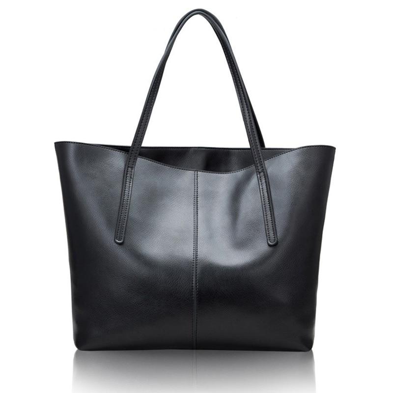Silver Genuine Leather Women Bag Big Handbag Fashion Top-Handle Hand Bag Ladies Tote Large Female Luxury Shoulder Bag
