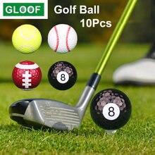 10 шт/лот 427 мм мячи для игры в гольф из синтетического каучука