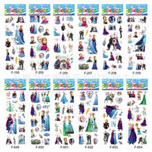 New 12 Sheets/lot Stickers 3D Cute Cartoon Frozen Stickers DIY For Kids Children Boys Girls Toys Kawaii Creative PVC Removable(China)