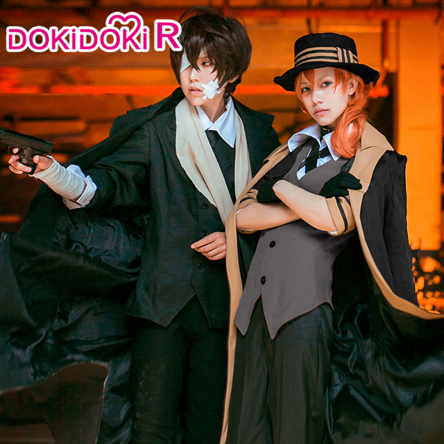 DokiDoki-R Anime Bungo Stray Gogs Cosplay Nakahara Chuuya Costume Bungo Stray Gogs Dazai Osamu Cosplay Costume Nakahara Chuuya