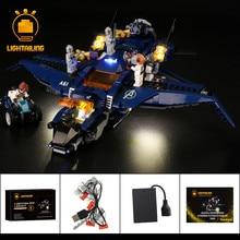 LIGHTAILING светодиодные комплект для конечной Квинджет Мстителей строительный блок установить совместимость с 76126