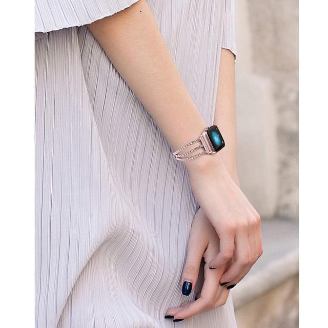 новый женский браслет jansin для часов apple watch 38 мм 42 фотография