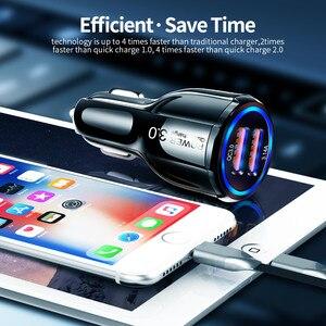Image 4 - Olaf Xe Hơi USB Quick Charge 3.0 2.0 Sạc 2 Cổng USB Sạc Nhanh Ô Tô Cho iPhone Samsung máy Tính Bảng Trên Ô Tô Sạc