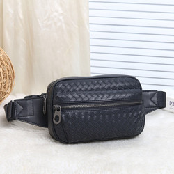 Kaisiludi leather braids men's chest bag 2019 new fanny pack fashion slant wrap wax cowhide youth leisure phone pack