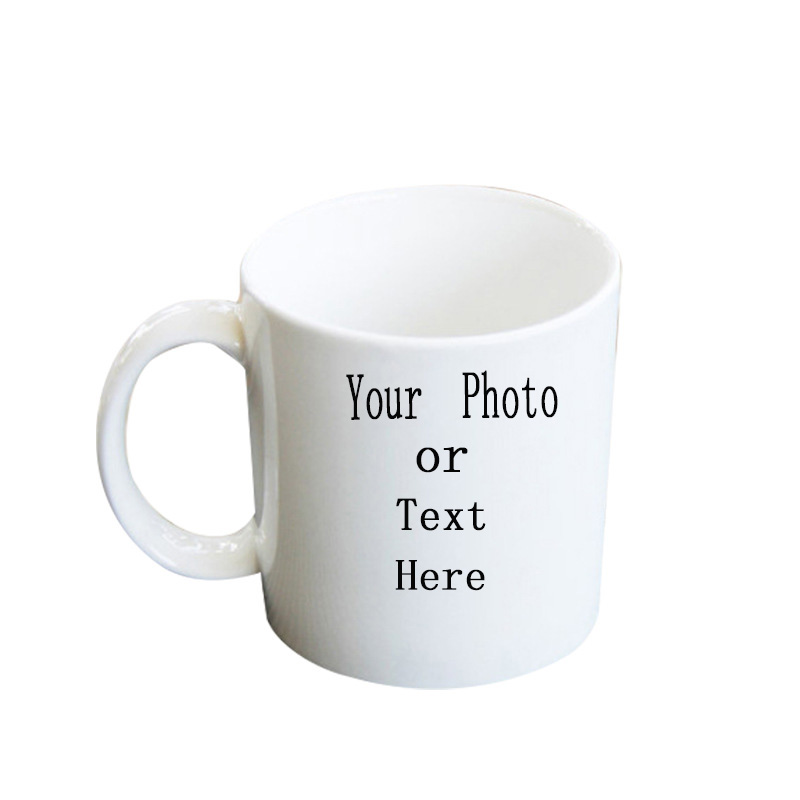 Coffee Cup Custom White DIY Your Favorite Photo or Logo Text Can Be Given To Friends and Family Creative Thermal Transfer