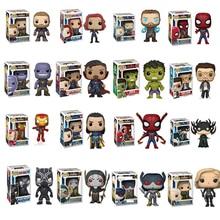Funko pop Marvel Avengers Iron Man Captain America Thor Black Widow Hulk Loki SpiderMan Model Original Box Toys Birthday