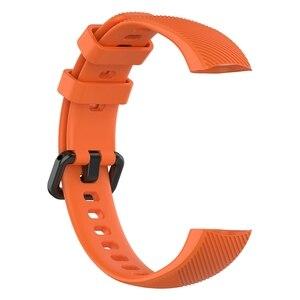Image 3 - סיליקון רצועת לכבוד להקת 5 4 צמיד יד תחליף רצועת לכבוד להקת 5 Oximetry מגן סרט עבור Huawei להקת 4