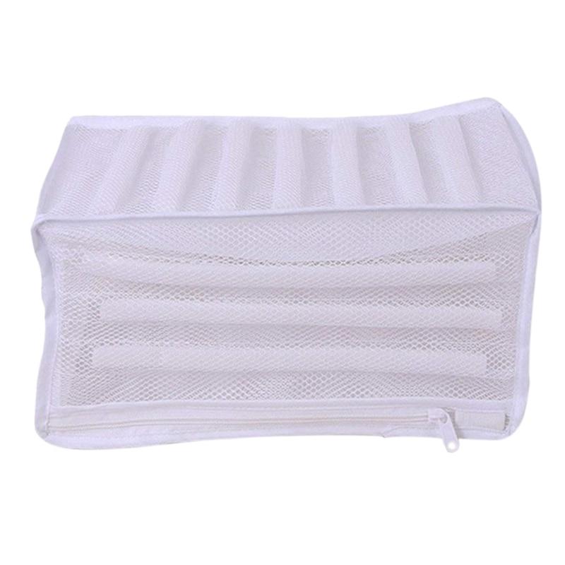 White Padded Mesh Laundry Bag Premium Zipper Heavy Duty Storage For Men Trainers,Running Shoes In Washing Machine Durable Washin