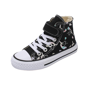 Image 2 - 2020 Girls Unicorn Boots Rainbow Vulcanized Canvas Toddler Boots Big Girls and Boys Sneakers Winter Ankle England Boots  25 38