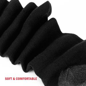 Image 5 - YUEDGE Brand Mens Black Wicking Breathable Cushion Comfort Cotton  Casual Sports  Cycling Crew Socks(5 Pairs/Pack)
