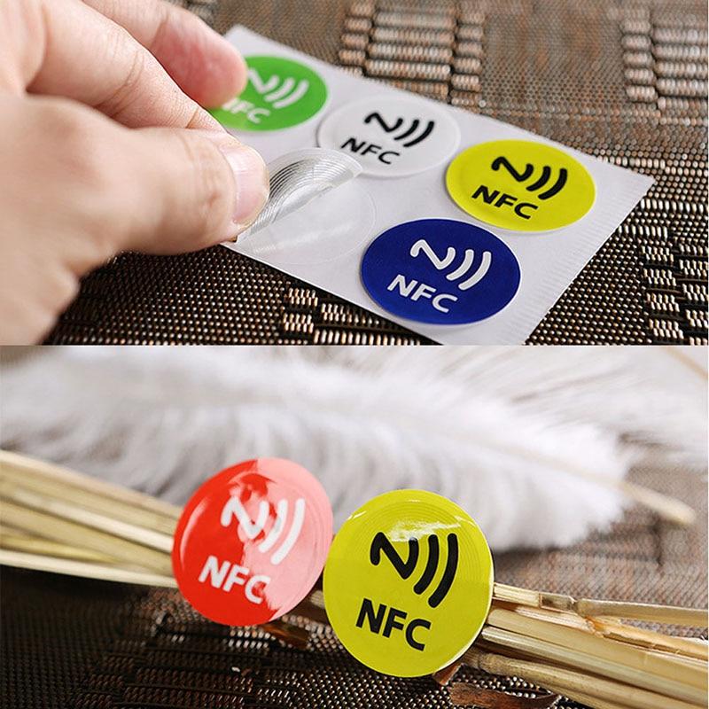 6 шт. водонепроницаемые наклейки из ПЭТ-материала Nfc Smart Ntag213 ярлыки для телефонов Новинка