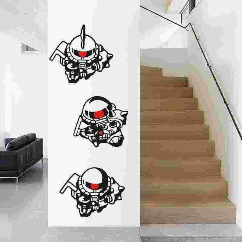 GUNDAM duvar çıkartması vinil duvar çıkartmaları çıkartması dekor ev dekoratif dekorasyon Anime ZAKU II Gundam araba Sticker