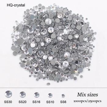 Diamantes de imitación y cristales de Strass, piedras y cristales brillantes para la parte trasera de la ropa, 2500 Uds.