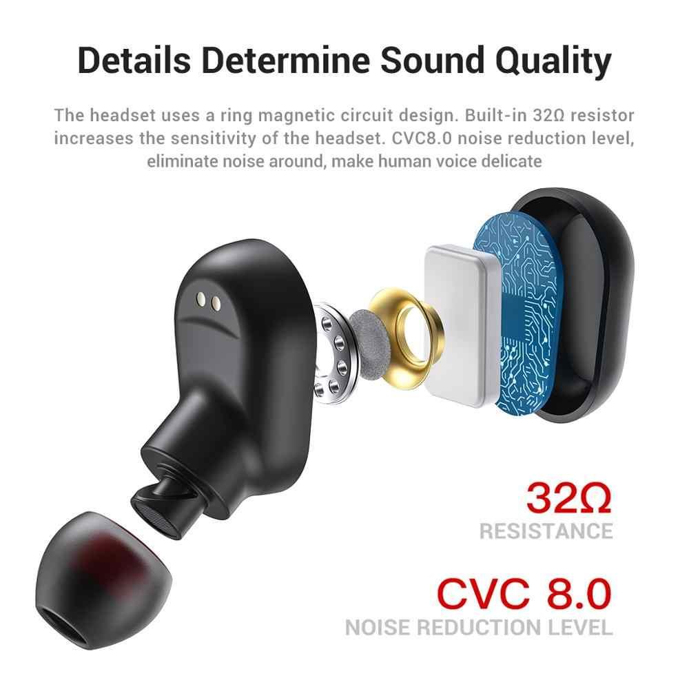 Mini słuchawki TWS L21 Bluetooth 5.0 LED bezprzewodowy wyświetlacz Bluetooth zestaw słuchawkowy z mikrofonem do grania w gry i sport
