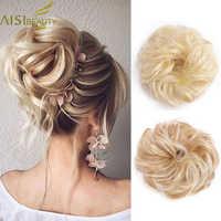 AISI SCHÖNHEIT Synthetische Chignons Haar Brötchen Haarteile für Frauen Messy Bun Haar Erweiterung Zubehör Gummiband Blonde Braun Haar