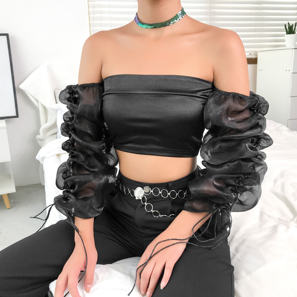 Womens Ladies Bow Tie Knot Gypsy Boho Ruched Off Shoulder Tee Shirt Vest Top