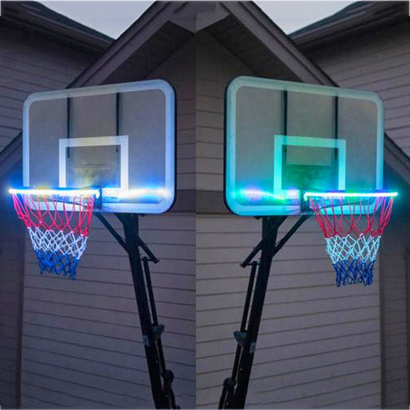New Light Up LED Basketball Hoop Light Solar Power Color Changing  Induction Lamp XD88