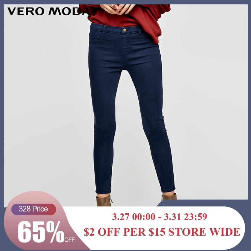 Vero Moda Slim Wrap Stretch Denim Pants Jeans Woman | 316449501