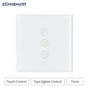 Curtain-Switch Roller-Shade-Motor Tuya Home-Control Alexa Googl with Zigbee-Hub for Work