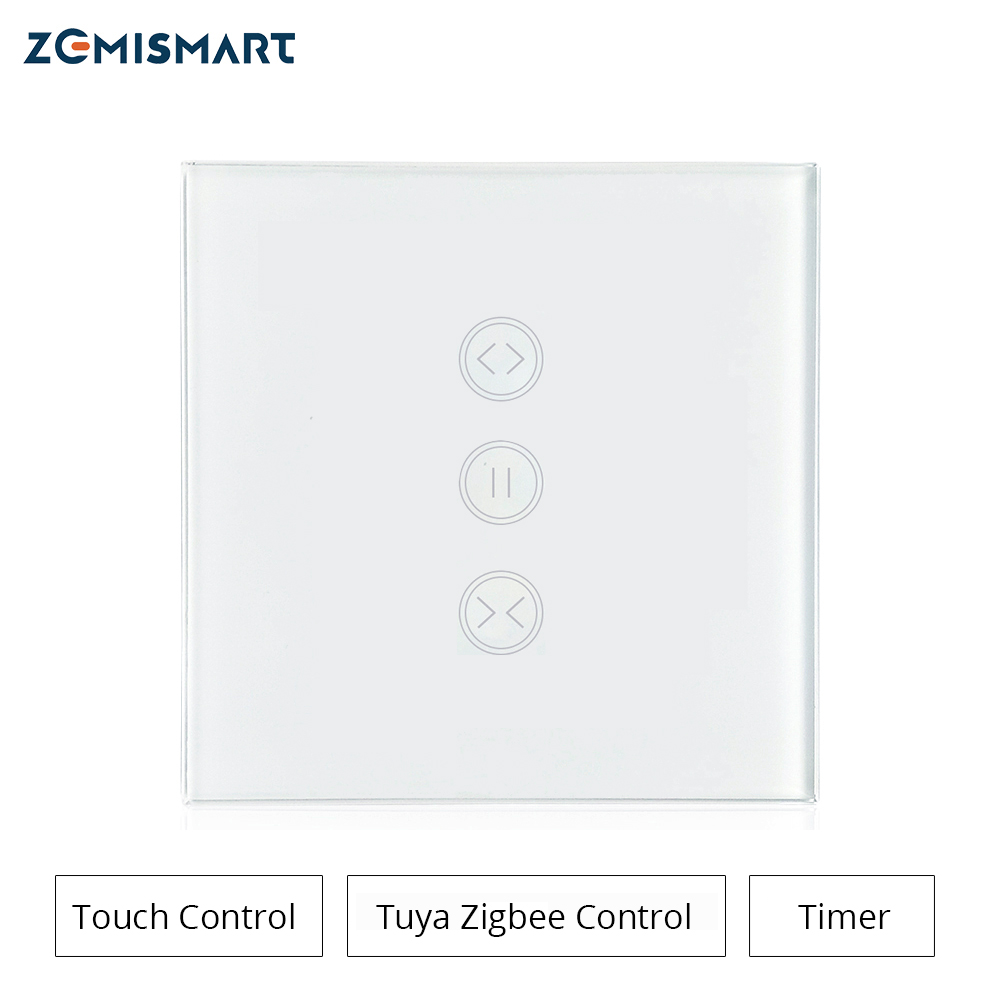 Curtain Switch Work With Tuya Zigbee Hub Alexa Googl Home Control For Smart Curtain Or Roller Shade Motor