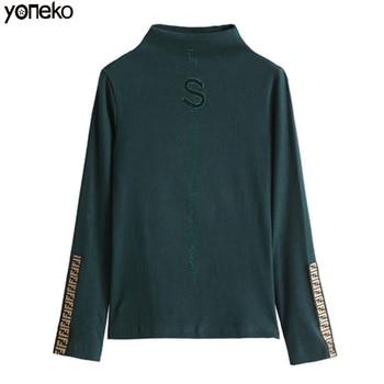 Yoneko T Shirt Women Harajuku Womens T-shirt Velvet Long Sleeve Clothing Blusas Femininas KM630