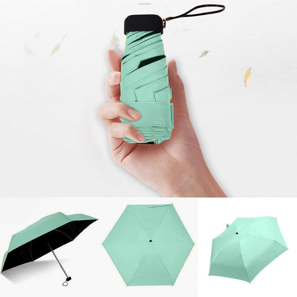 Зонт от солнца и дождя; Женская обувь на плоской подошве легкая зонтик складной зонтик мини Зонт маленький Размеры легко хранить зонтик