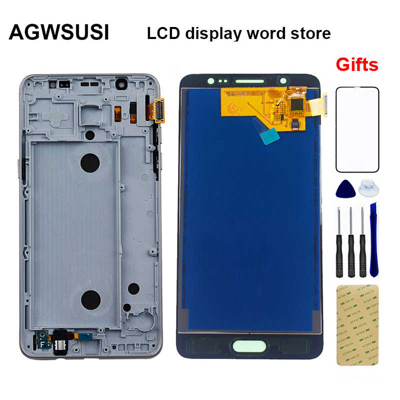 Voor Samsung Galaxy J5 2016 Lcd Display J510 Sm J510F J510FN J510M J510Y/Ds Lcd Panel + Touch Screen digitizer Vergadering Frame