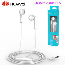 NEW Huawei Honor AM115 Headset with 3.5mm in Ear Earbuds Earphone Speaker Wired Controller for Huawei P10 P9 P8 Mate9 Honor 8(China)