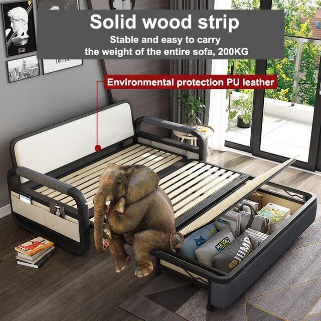 Bit Cube Gray Folding Bed Sofa 5