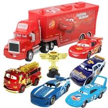 Disney Pixar Cars 2 3 1 Toys Lightning McQueen Mack Uncle Truck 1:55 Diecast Model Car
