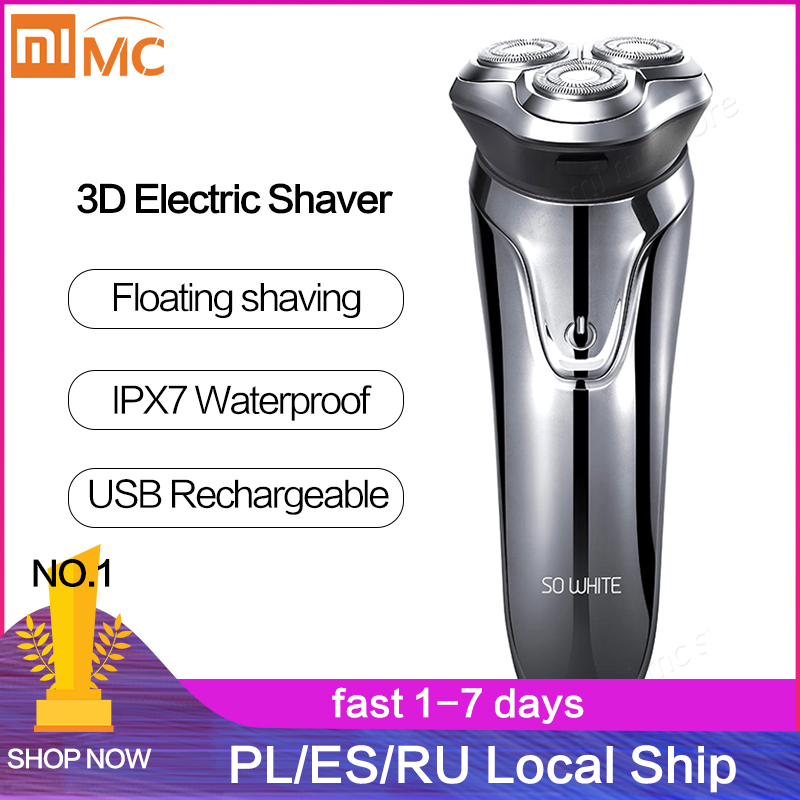 Xiaomi Soocas SO WHITE Electric Shaver Razor Men Washable USB Rechargeable Wireless 3D Smart Control Shaving Beard Machine