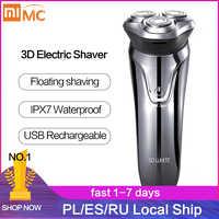 Xiaomi Soocas SO blanc rasoir électrique hommes lavable USB Rechargeable sans fil 3D contrôle intelligent rasage barbe Machine
